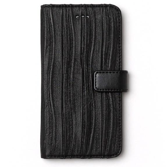 iPhone6s ケース プリーツ加工手帳型ケース Pleats Diary ブラック iPhone 6s/6_0