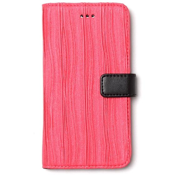 [2017夏フェス特価]プリーツ加工手帳型ケース Pleats Diary ピンク iPhone 6s/6