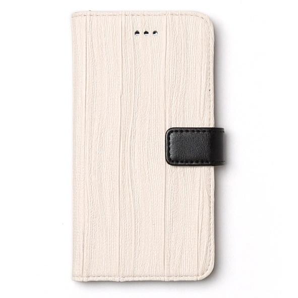 【iPhone6sケース】プリーツ加工手帳型ケース Pleats Diary ホワイト iPhone 6s/6_0