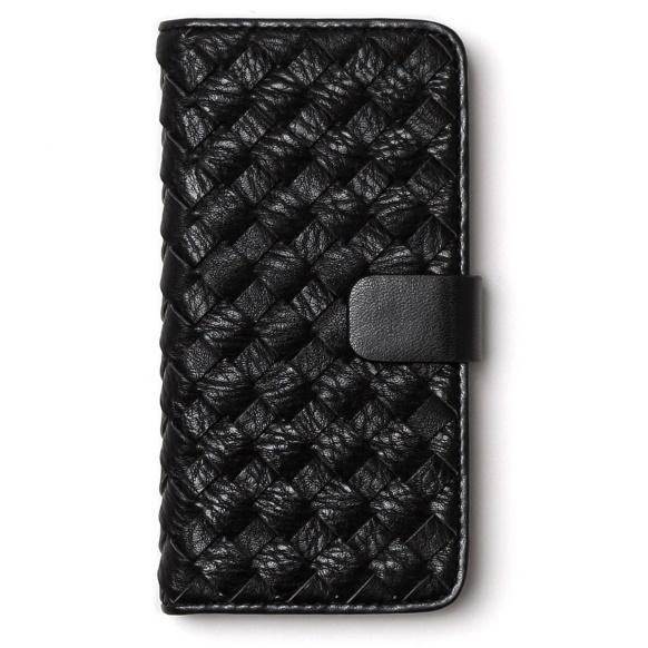 iPhone6s ケース レザーメッシュ手帳型ケース Mesh Diary ブラック iPhone 6s/6_0