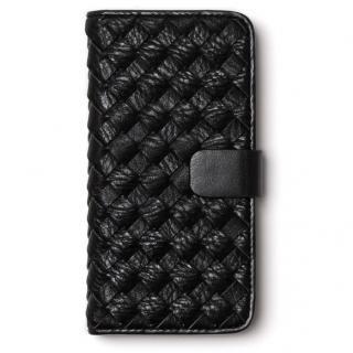 レザーメッシュ手帳型ケース Mesh Diary ブラック iPhone 6s/6
