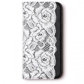 レースデザイン手帳型ケース Lace diary ブラック iPhone 6s/6