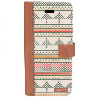 【iPhone6sケース】スカンジナビアセーター 手帳型ケース ブラウン iPhone 6s/6