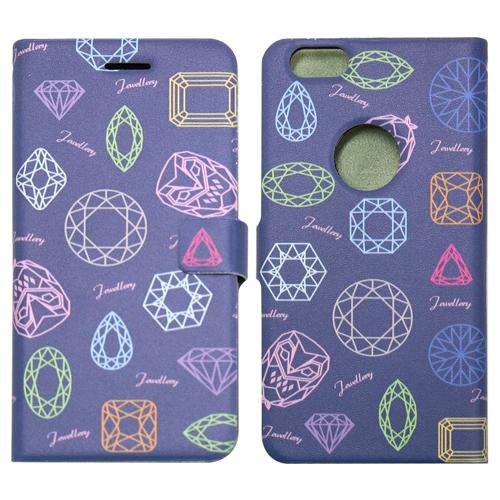iPhone6s ケース ジュエリー柄 手帳型ケース ブルーブラック iPhone 6s/6_0