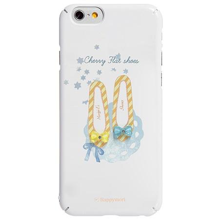 【iPhone6sケース】ハードケース チェリーフラットシューズ イエロー iPhone 6s/6_0