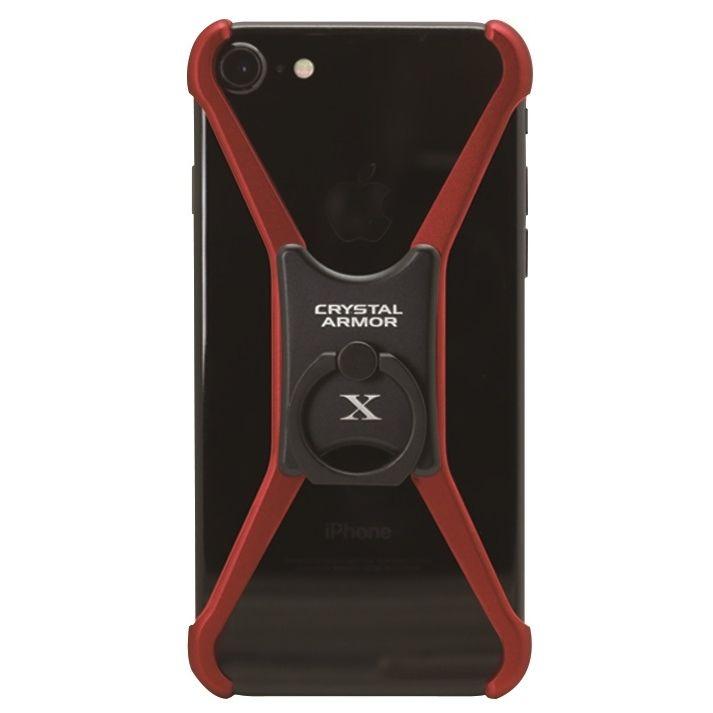 【iPhone8/7/6s/6ケース】CRYSTAL ARMOR  X Ring アルミバンパー レッド×ブラック iPhone 8/7/6s/6_0