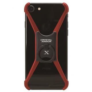 iPhone8/7/6s/6 ケース CRYSTAL ARMOR  X Ring アルミバンパー レッド×ブラック iPhone 8/7/6s/6