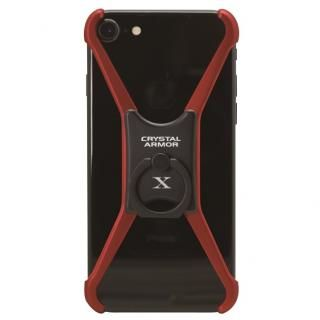 【iPhone6s ケース】CRYSTAL ARMOR  X Ring アルミバンパー レッド×ブラック iPhone 8/7/6s/6