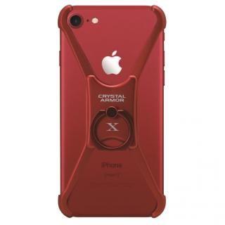 【iPhone8 ケース】CRYSTAL ARMOR  X Ring アルミバンパー レッド iPhone 8/7/6s/6
