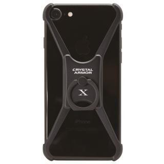 【iPhone8 ケース】CRYSTAL ARMOR  X Ring アルミバンパー ブラック iPhone 8/7/6s/6