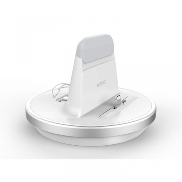 肉厚ケースカバー対応充電スタンド  iPhone/iPad ホワイト_0