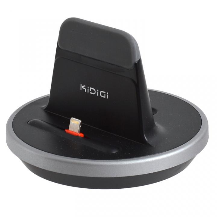 肉厚ケースカバー対応充電スタンド  iPhone/iPad ブラック_0