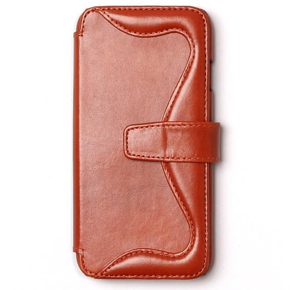 ウエスタンデザイン 手帳型レザーケース Western ブラウン iPhone 6s/6