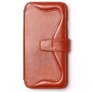 【iPhone6sケース】ウエスタンデザイン 手帳型レザーケース Western ブラウン iPhone 6s/6
