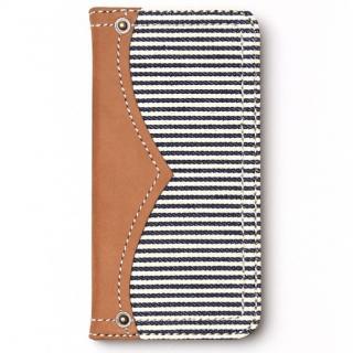 iPhone6s ケース デニム手帳型ケース Denim ホワイトストライプ iPhone 6s/6