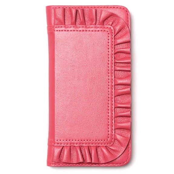 【iPhone6sケース】レザーフリル手帳型ケース Ruffle Diary ピンク iPhone 6s/6_0