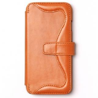 ウエスタンデザイン 手帳型レザーケース Western キャメル iPhone 6s/6
