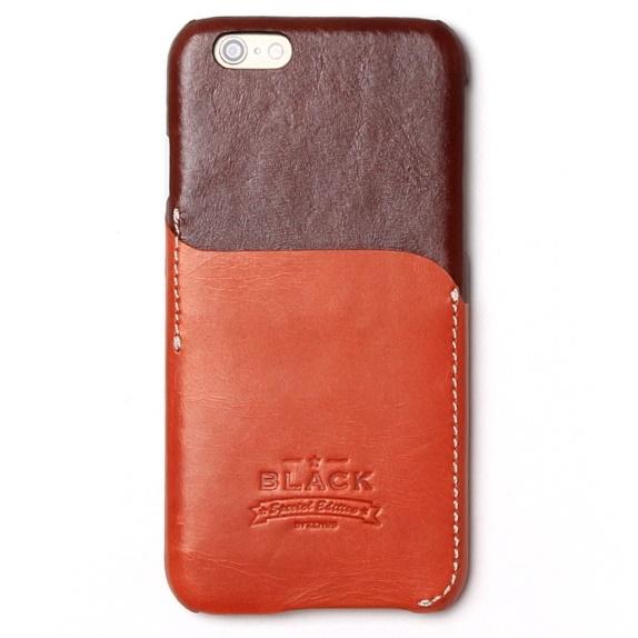 【iPhone6sケース】ブラックシリーズ Combi Bar レザーケース ブラウン iPhone 6s/6_0