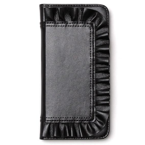 iPhone6s ケース レザーフリル手帳型ケース Ruffle Diary ブラック iPhone 6s/6_0