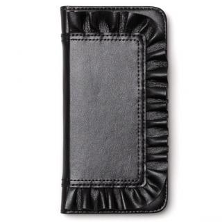 レザーフリル手帳型ケース Ruffle Diary ブラック iPhone 6s/6