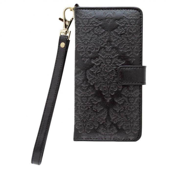 手帳型ケース バロック調 ブラック iPhone 6s