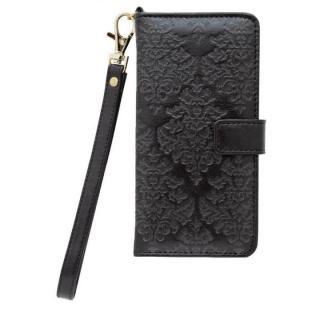 【iPhone6sケース】手帳型ケース バロック調 ブラック iPhone 6s