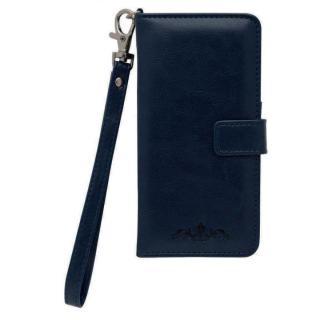手帳型ケース ワンポイント ネイビー iPhone 6s