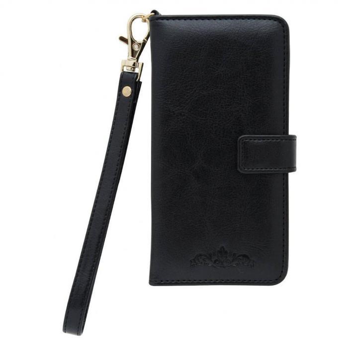 手帳型ケース ワンポイント ブラック iPhone 6s