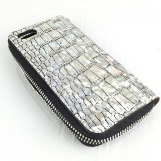 クロコダイル型押手帳型ケース Wetherby ホログラム iPhone 6s/6