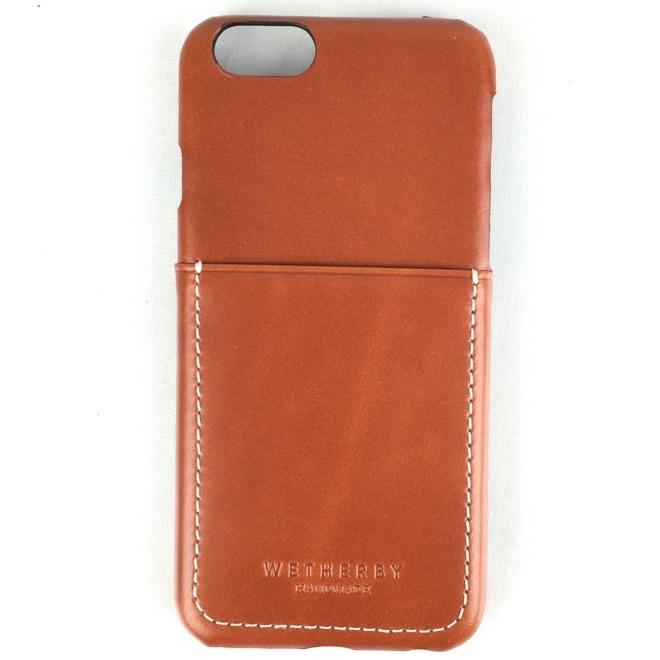 牛革 ポケット付きケース 15FW Pocket レッドブラウン iPhone 6s/6