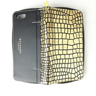 iPhone6s ケース クロコダイル型押手帳型ケース Wetherby ゴールド iPhone 6s/6