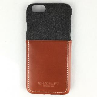 コットン牛革 ポケット付きケース 15FW Pocket ダーググレイ/レッドブラウン iPhone 6s/6