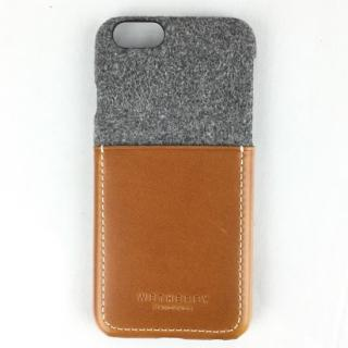 コットン牛革 ポケット付きケース 15FW Pocket グレイ/ブラウン iPhone 6s/6
