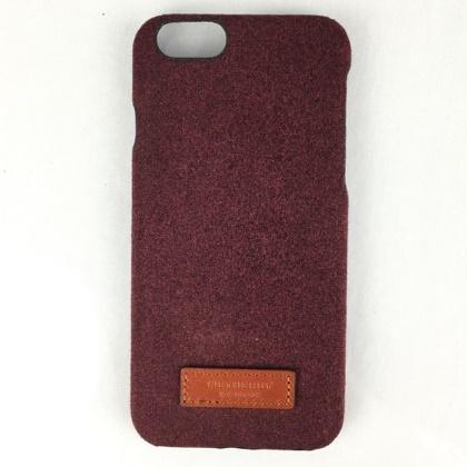 【iPhone6sケース】コットンケース 15FW Bartype メランレッド iPhone 6s/6_0