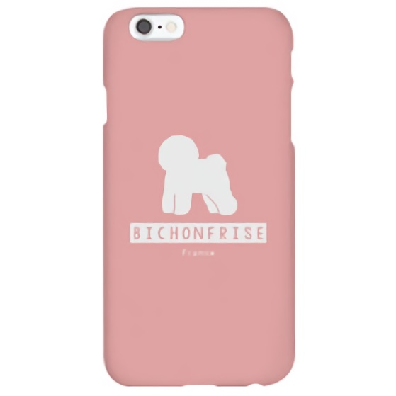 iPhone6s ケース ハイブリッドデザインケース TOUGT CASE シルエット ドッグ ビション・フリーゼ iPhone 6s/6_0