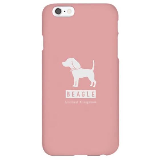 【iPhone6sケース】ハイブリッドデザインケース TOUGT CASE シルエット ドッグ ビーグル iPhone 6s/6_0