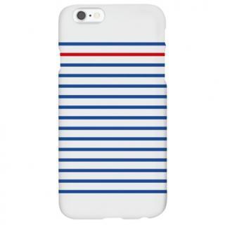 ハイブリッドデザインケース TOUGT CASE シンプル ストライプブルー&レッド iPhone 6s/6