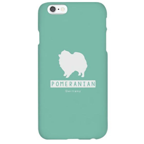 iPhone6s ケース ハイブリッドデザインケース TOUGT CASE シルエット ドッグ ポメラニアン iPhone 6s/6_0