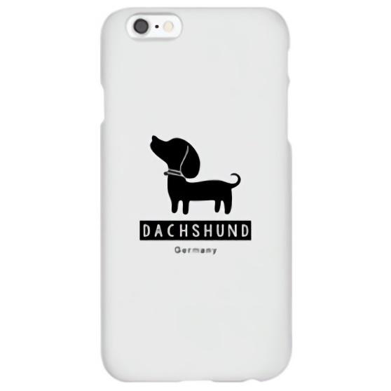 iPhone6s ケース ハイブリッドデザインケース TOUGT CASE シルエット ドッグ ダックスフント iPhone 6s/6_0
