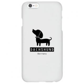 ハイブリッドデザインケース TOUGT CASE シルエット ドッグ ダックスフント iPhone 6s/6