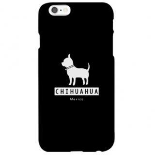 iPhone6s ケース ハイブリッドデザインケース TOUGT CASE シルエット ドッグ チワワ iPhone 6s/6