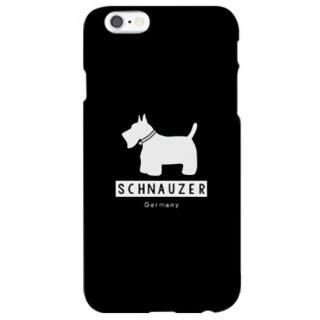 iPhone6s ケース ハイブリッドデザインケース TOUGT CASE シルエット ドッグ シュナウザー iPhone 6s/6
