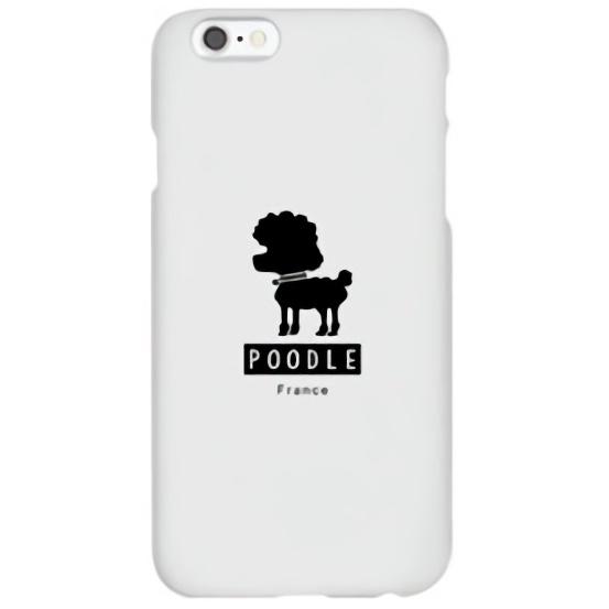 iPhone6s ケース ハイブリッドデザインケース TOUGT CASE シルエット ドッグ プードル iPhone 6s/6_0