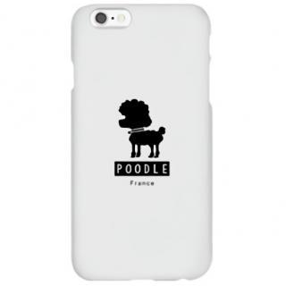 ハイブリッドデザインケース TOUGT CASE シルエット ドッグ プードル iPhone 6s/6