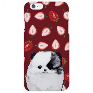 iPhone6s ケース ハイブリッドデザインケース TOUGT CASE アニマル ポメラニアンと苺 iPhone 6s/6