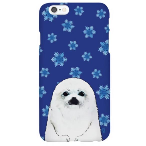 iPhone6s ケース ハイブリッドデザインケース TOUGT CASE アニマル アザラシと雪結晶 iPhone 6s/6_0