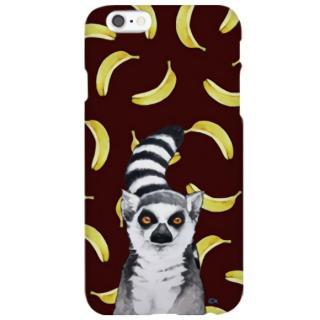 ハイブリッドデザインケース TOUGT CASE アニマル ワオキツネザルとバナナ iPhone 6s/6