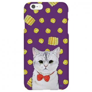 iPhone6s ケース ハイブリッドデザインケース TOUGT CASE アニマル ネコとトウモロコシ iPhone 6s/6