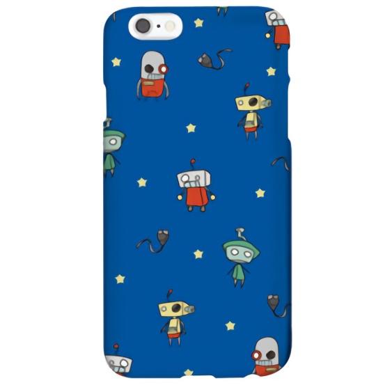 iPhone6s ケース ハイブリッドデザインケース TOUGT CASE ロボットブルー iPhone 6s/6_0