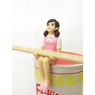 コップのフチ子 カップラーメンのフチ子 ピンク